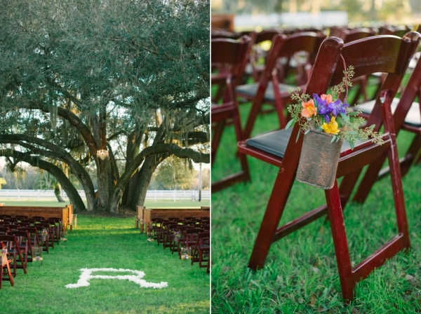 Mahogany Resin Wedding Chairs