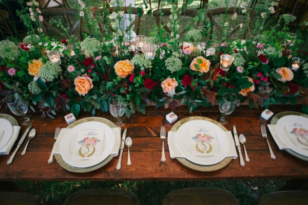Wedding China Farm Table
