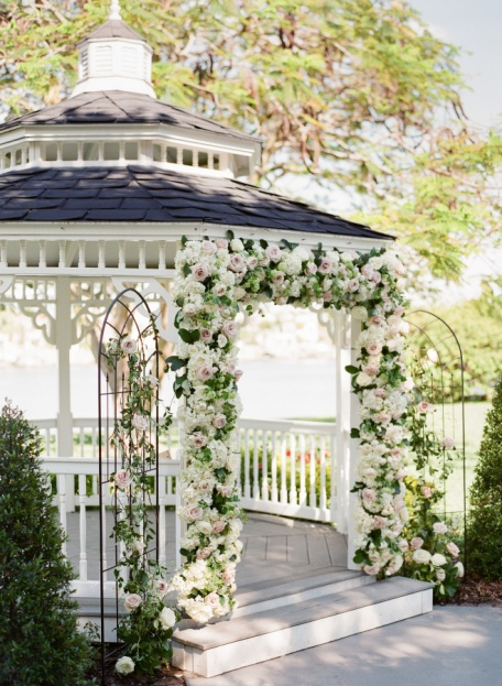 White Pink Arch Floral