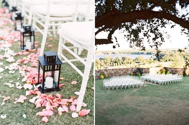 Simple Outdoor Ceremony Decorations: Bella Collina: A Blush Outdoor Wedding