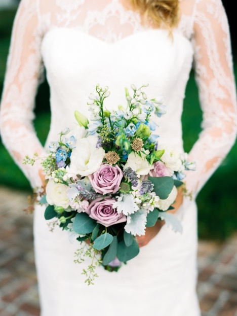 Lavender Blue Bridal Bouquet