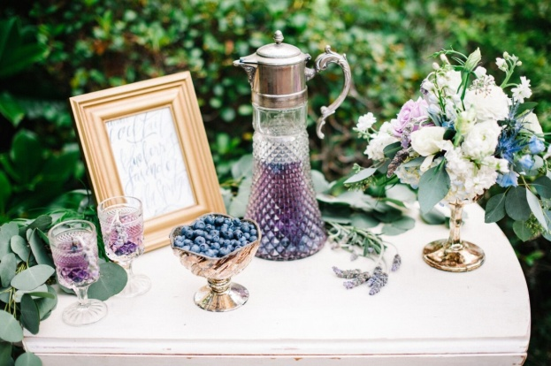 Lavender Blueberry Cocktails