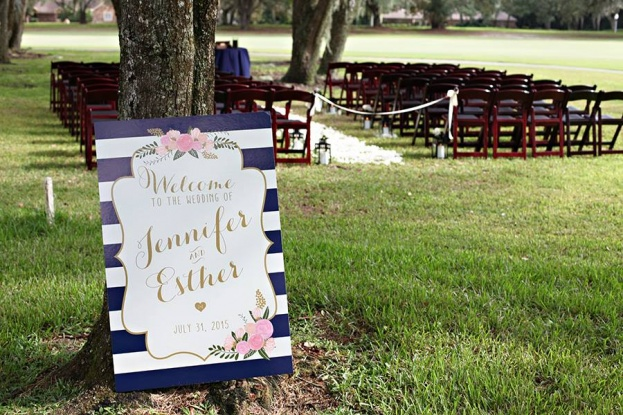 Navy Outdoor Wedding