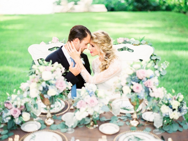 Peachtree House: French Blue and Lavender Wedding Inspiration