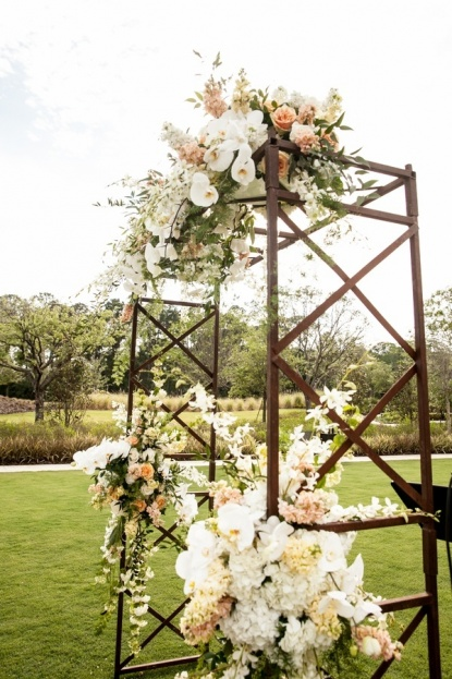 rustic floral wedding arch
