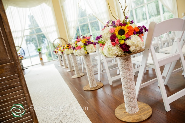 rustic wedding aisle decor