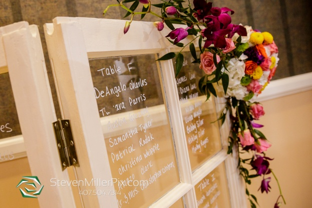 rustic wedding glass door seating chart