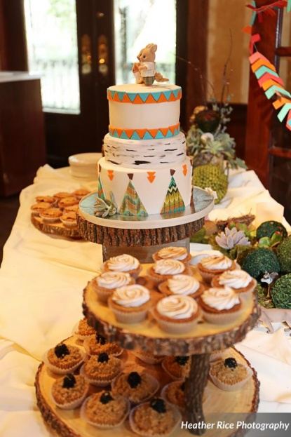Woodland Theme Rustic Dessert Table Baby Shower