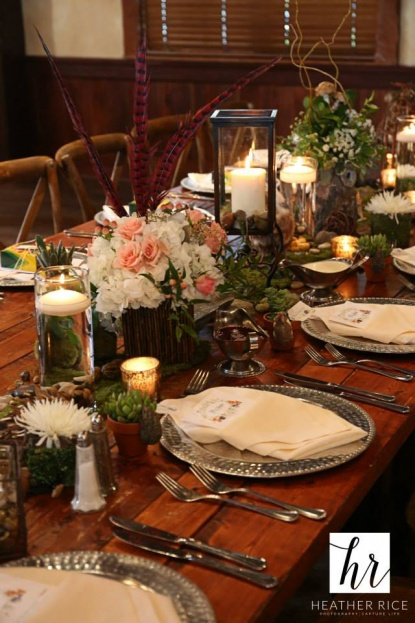 Woodland Themed Baby Shower Rustic Farm Table
