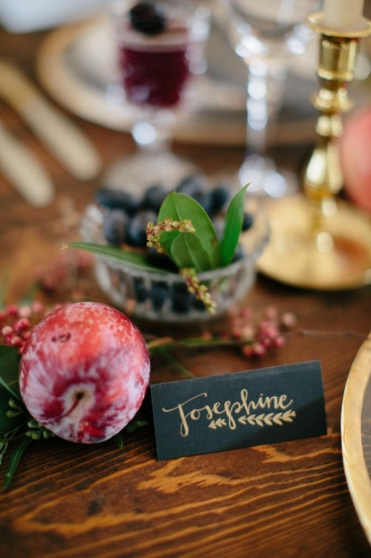Fall Harvest Inspiration Gold Escort Card