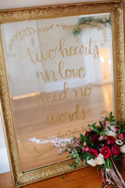 Fall Harvest Inspiration Gold Wedding Mirror