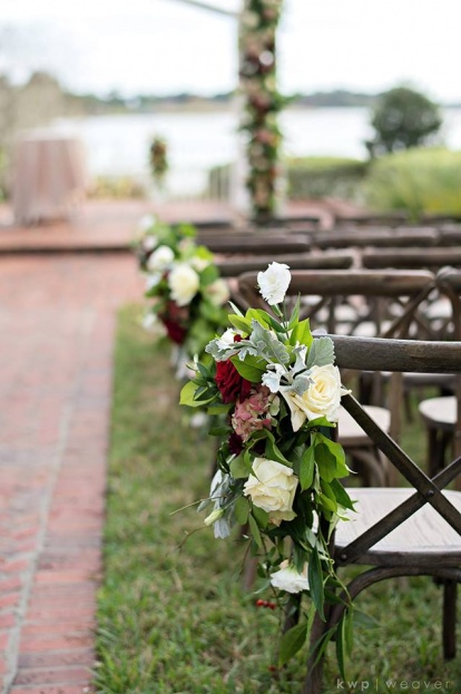 Plantation Style Wedding Chair Floral