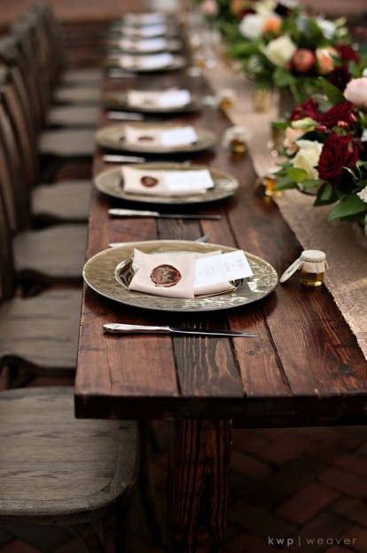 Plantation Style Wedding, Farm Tables