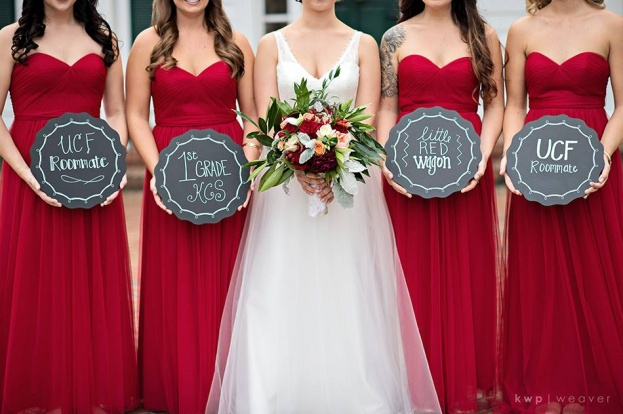 Plantation Style Wedding Red Bridesmaid Dress