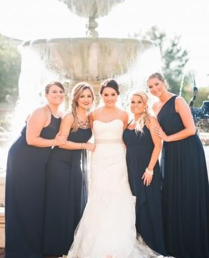 Blush-and-Navy-Bridesmaid-Dresses