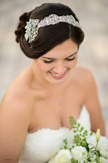 Bridal Hair Accessory with Rhinestones