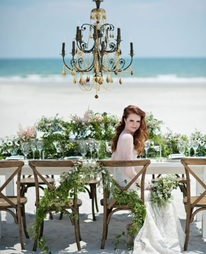 On Location: Beach Bridal Wedding Inspiration