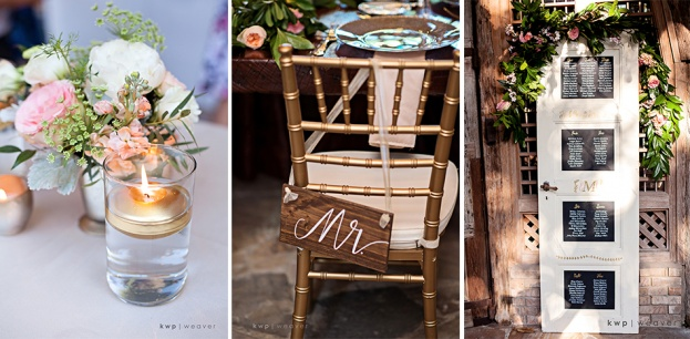 Gold Wedding Chair Signage