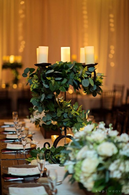 Greenery Wedding Floral Centerpiece