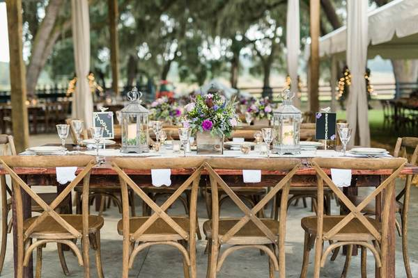 rustic outdoor wedding french country chairs