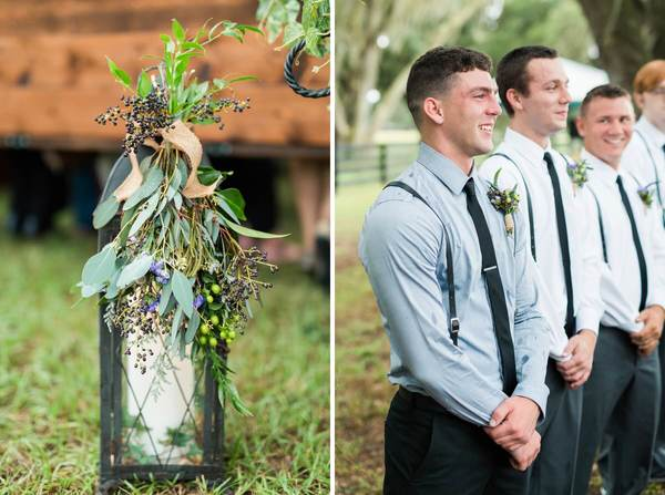 rustic outdoor wedding groomsmen