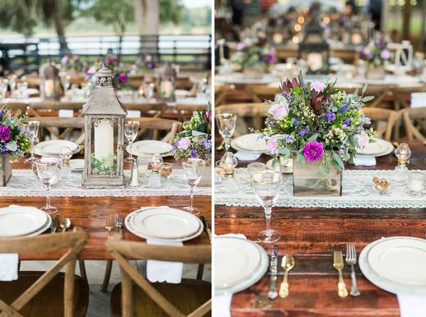 rustic outdoor wedding reception decor