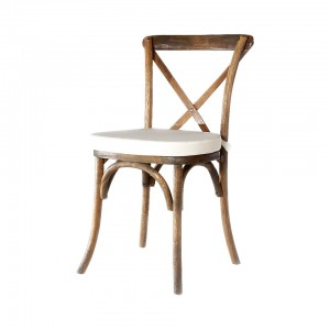 French Country Chair with Ivory Pad A Chair Affair Event Rentals