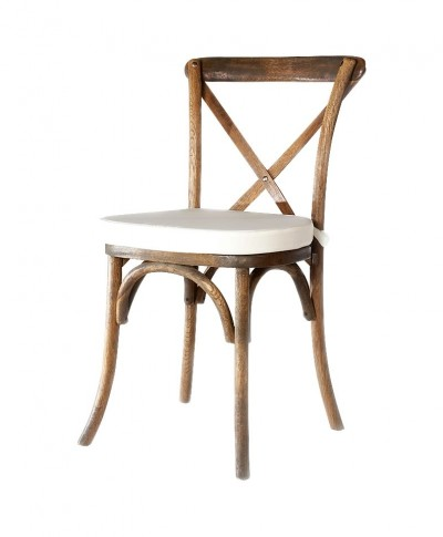 French Country Chair With Ivory Pad