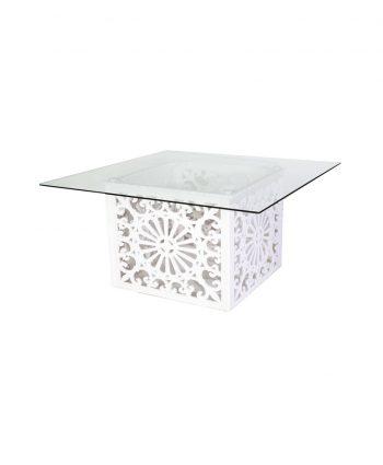 Geo Glass Top Table - A Chair Affair