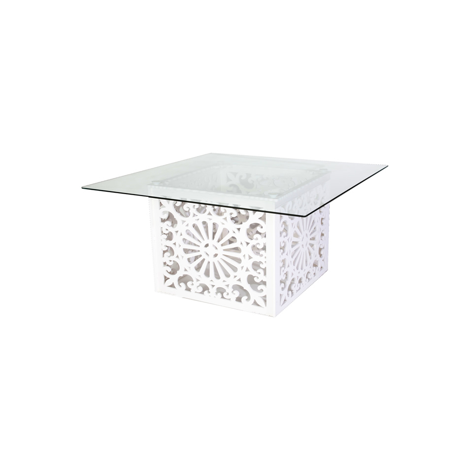 warehouse aluminium glass coral table top bay w bunnings mimosa