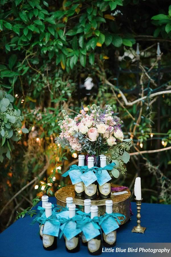 watercolor wedding inspiration favors