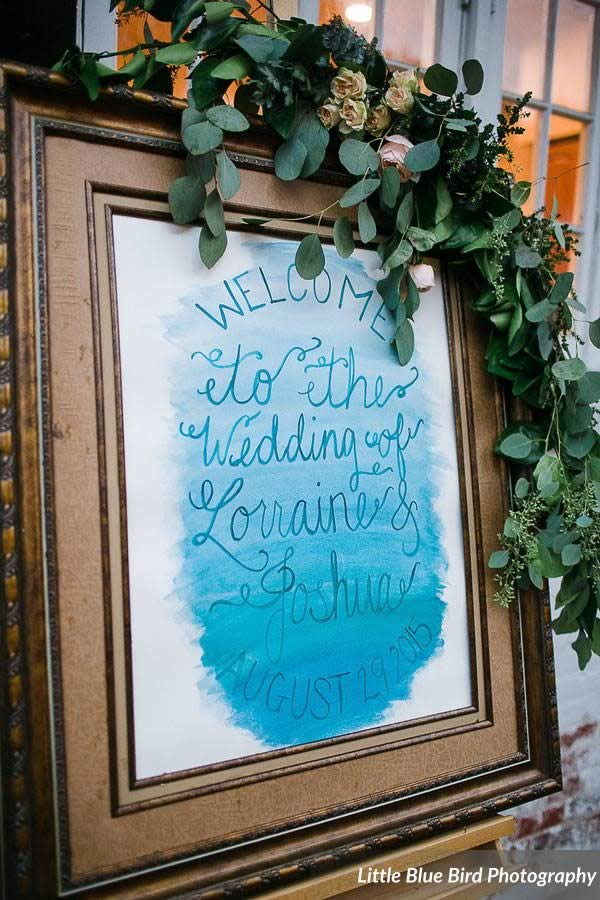 watercolor wedding inspiration signage