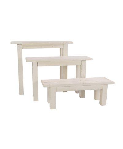 4′ Whitewashed Bench – A Chair Affair
