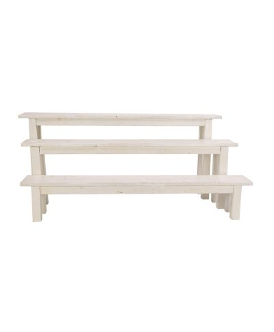 8′ Whitewashed Bench – A Chair Affair