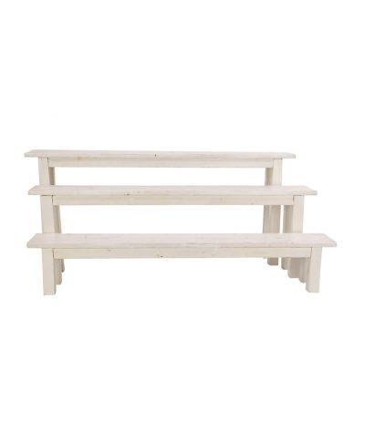 8′ Whitewashed Bench – A Chair Affair
