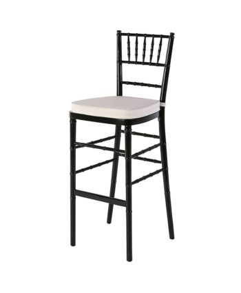 Black Chiavari Highboy Ivory Pad - A Chair Affair