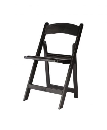 Black Resin Folding Chair - A Chair Affair