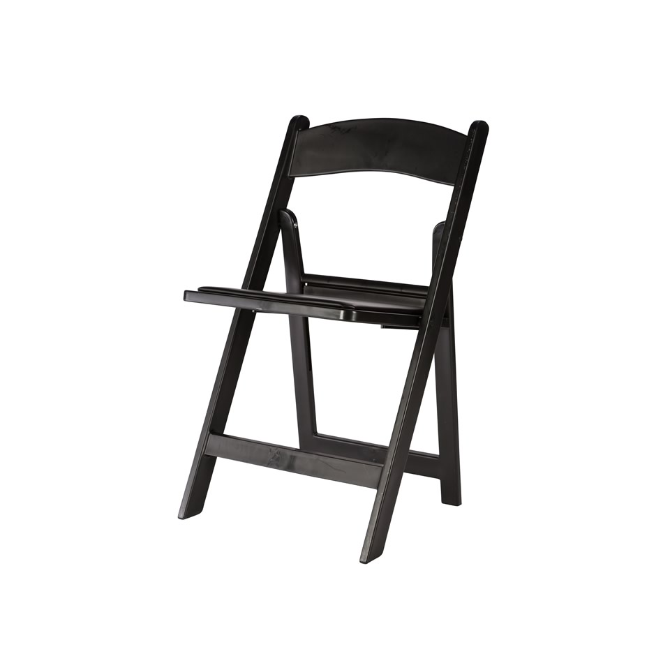 White resin folding chairs - Black Resin Folding Chair