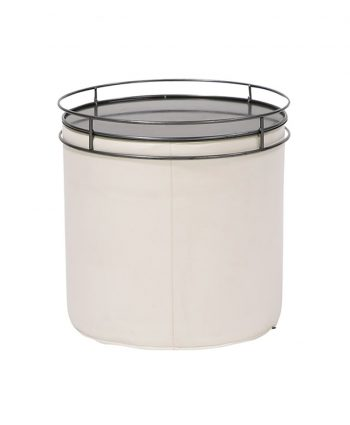 Contempo Round End Table with Cylinder Tray - A Chair Affair