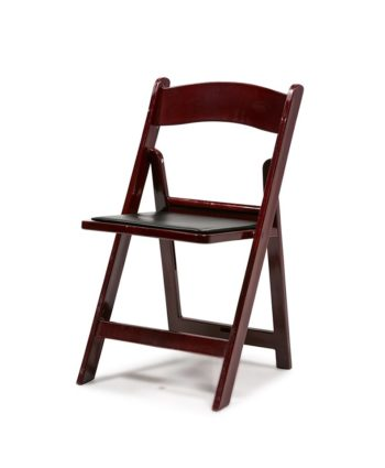 Mahogany Resin Folding Chair - A Chair Affair Rentals