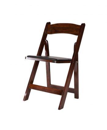 Mahogany Wood Folding Chair - A Chair Affair