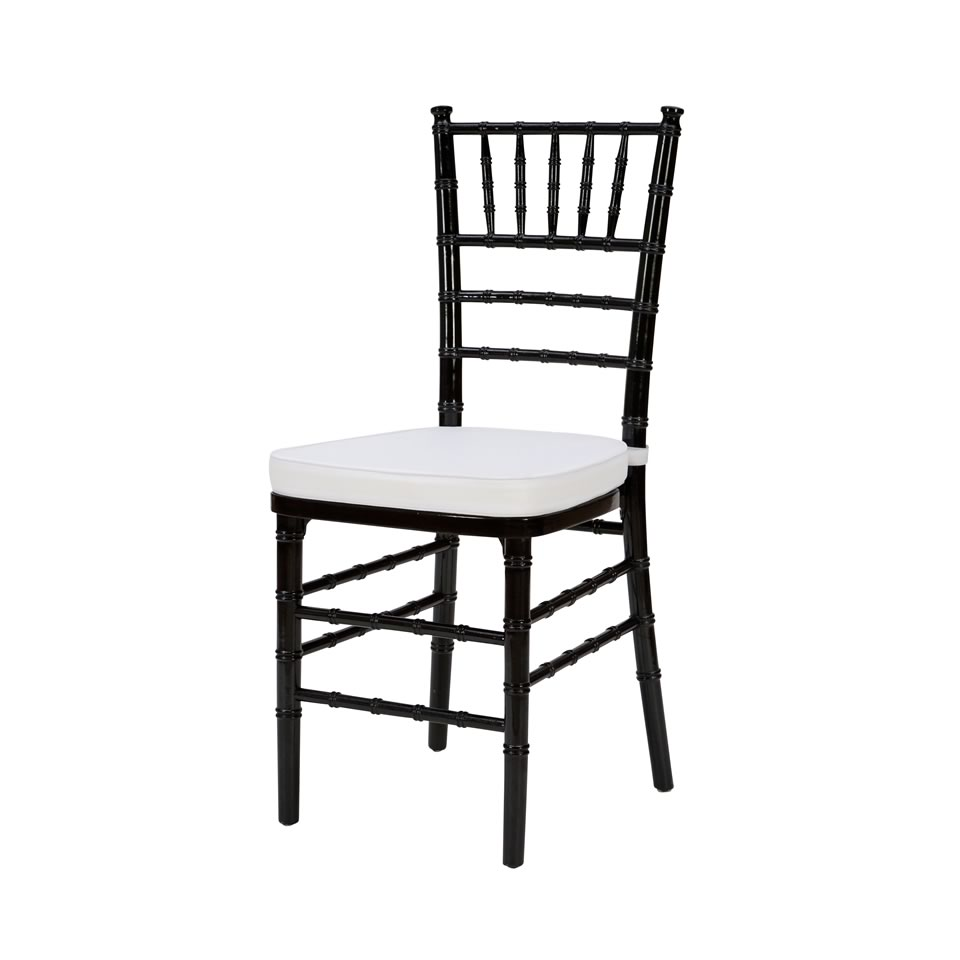 Steel Core Black Chiavari Chair
