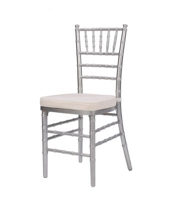 Steel Core Silver Chiavari Chair - A Chair Affair