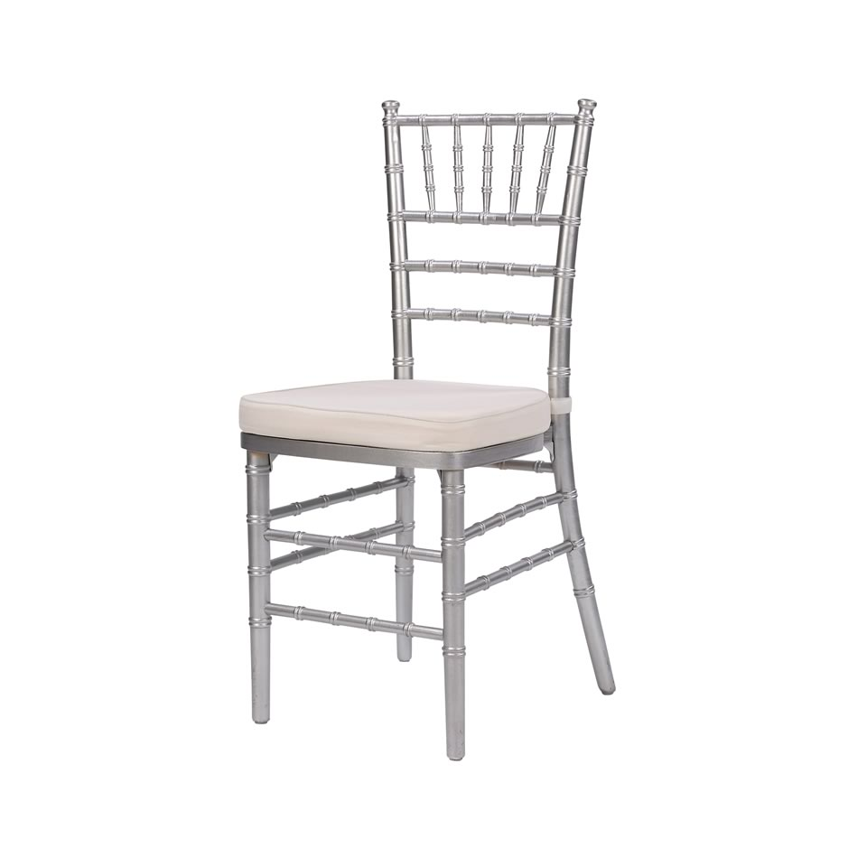 Beautiful Steel Core Silver Chiavari Chair