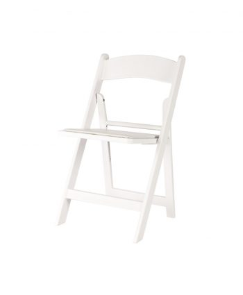 White Resin Folding Chair - A Chair Affair