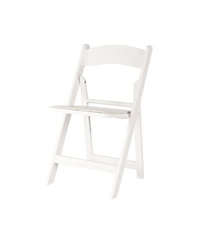 White Resin Folding Chair – A Chair Affair