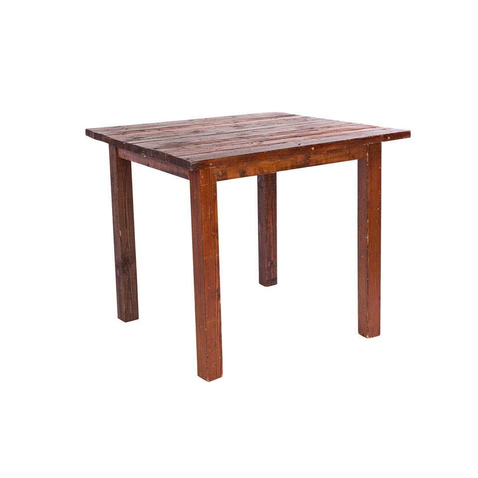 2 X4 Mahogany Sweetheart Table A Chair Affair Inc