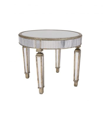 36 inch Mirrored Table - A Chair Affair