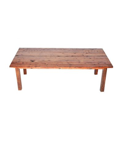 4′ X 8′ Mahogany Farm Table – A Chair Affair