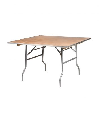 48u2033 Square Tables. * Wooden Table